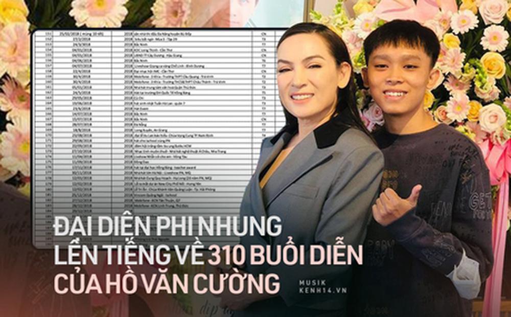 Phía ekip cố NS Phi Nhung nói gì về danh sách 310 đêm diễn và sự kiện của Hồ Văn Cường gây xôn xao MXH?
