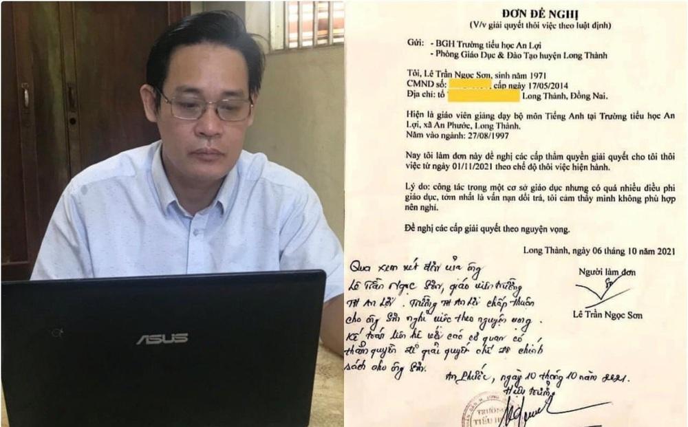 Thầy giáo xin thôi việc vì 'môi trường dối trá': Chỉ đạo rút lại đơn xin nghỉ việc!
