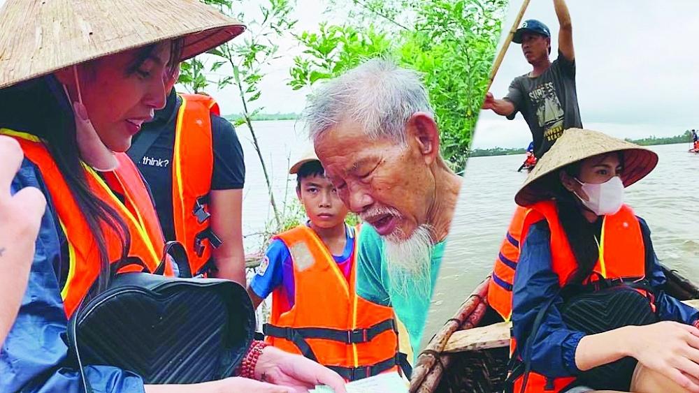 Gửi báo cáo Bộ Công an về hoạt động từ thiện của Thuỷ Tiên ở Quảng Nam: Việc trao tiền không có khuất tất - Ảnh 1.