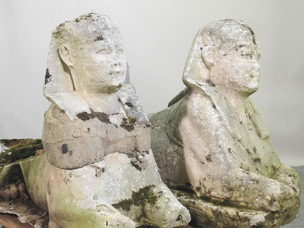 Chuyển nhà nên định vứt quách 2 bức tượng nhân sư đi, cặp đôi đổi ý phút cuối rồi bất ngờ ngồi trên đống tiền - Ảnh 2.