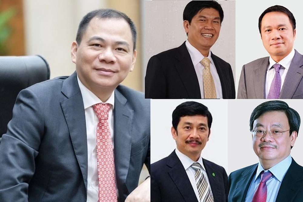 10 doanh nhân nắm tài sản lớn nhất trên sàn chứng khoán Việt - Ảnh 1.