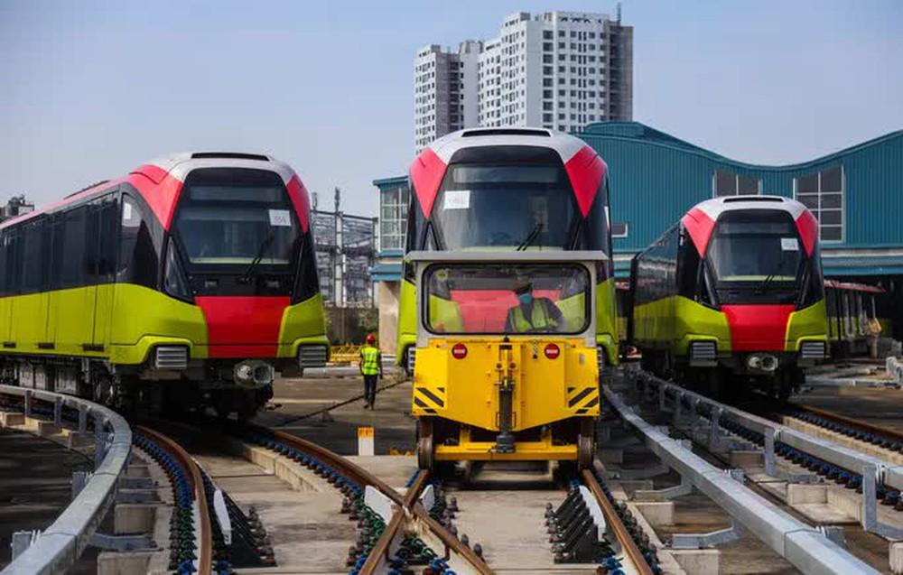 Cận cảnh 10 đoàn tàu tuyến Metro Nhổn - ga Hà Nội sẵn sàng chạy thử nghiệm - Ảnh 2.