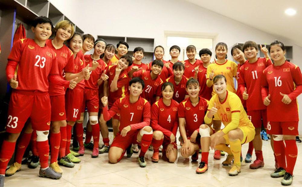 Tuyển nữ Việt Nam về nước với chiến thắng thuyết phục tại vòng loại Asian Cup 2022