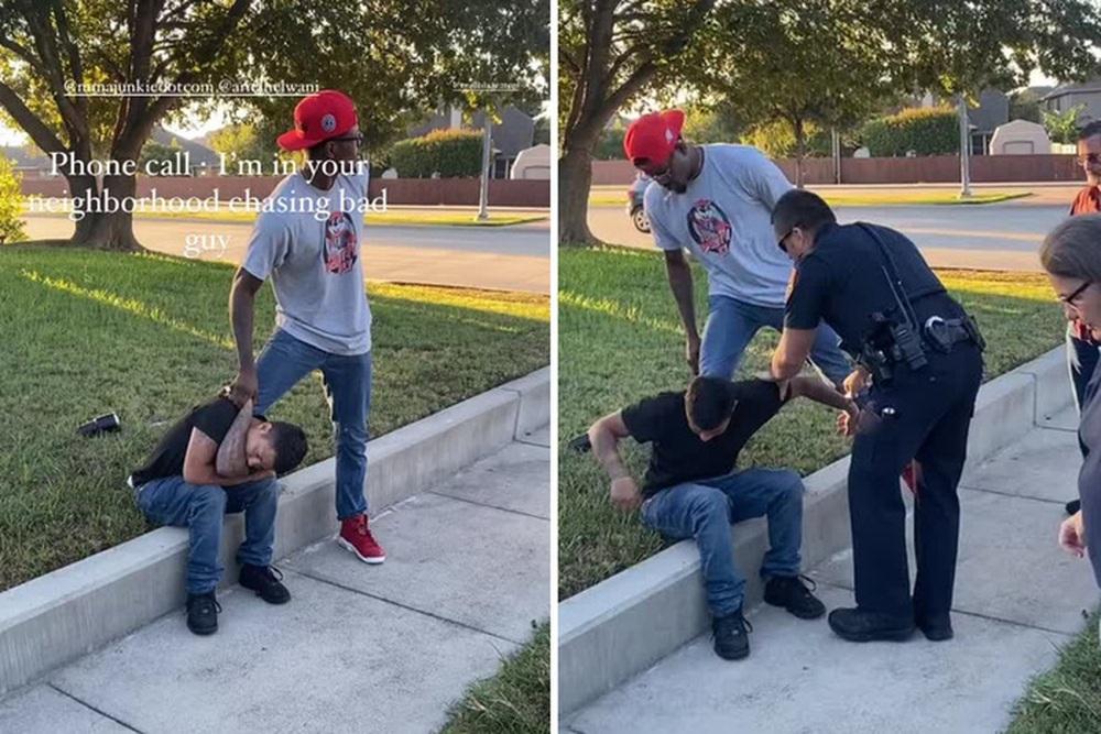 Tay đấm Kevin Holland trổ tài bắt kẻ trộm ngay trên phố - Ảnh 2.