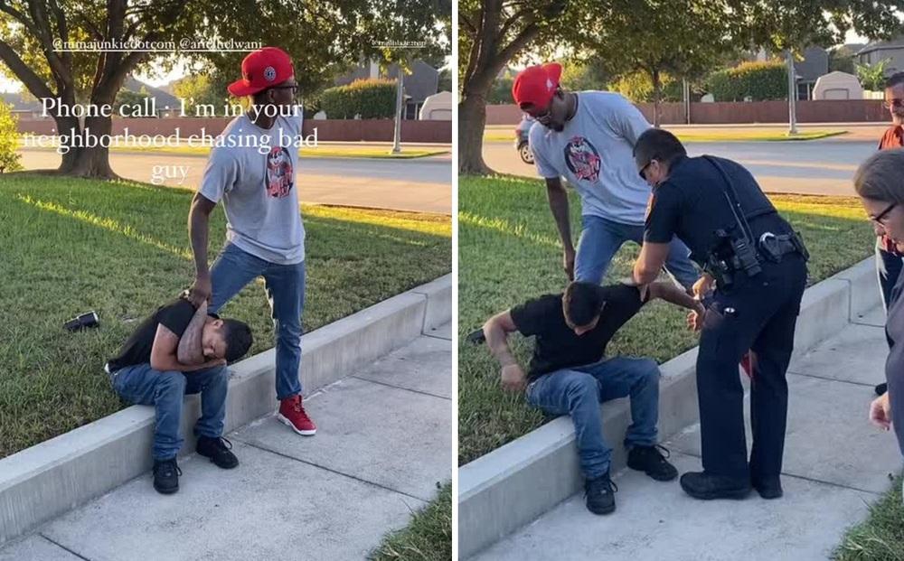 Tay đấm Kevin Holland trổ tài bắt kẻ trộm ngay trên phố