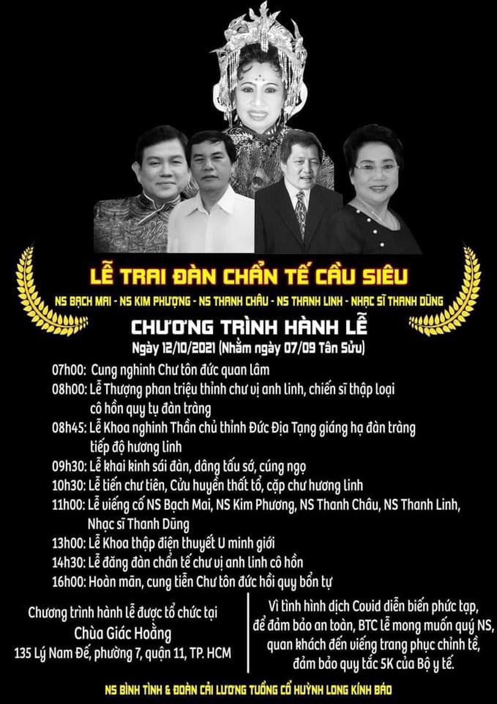 Nghệ sĩ Bình Tinh tổ chức lễ tưởng niệm cho 5 người thân vừa qua đời - Ảnh 1.