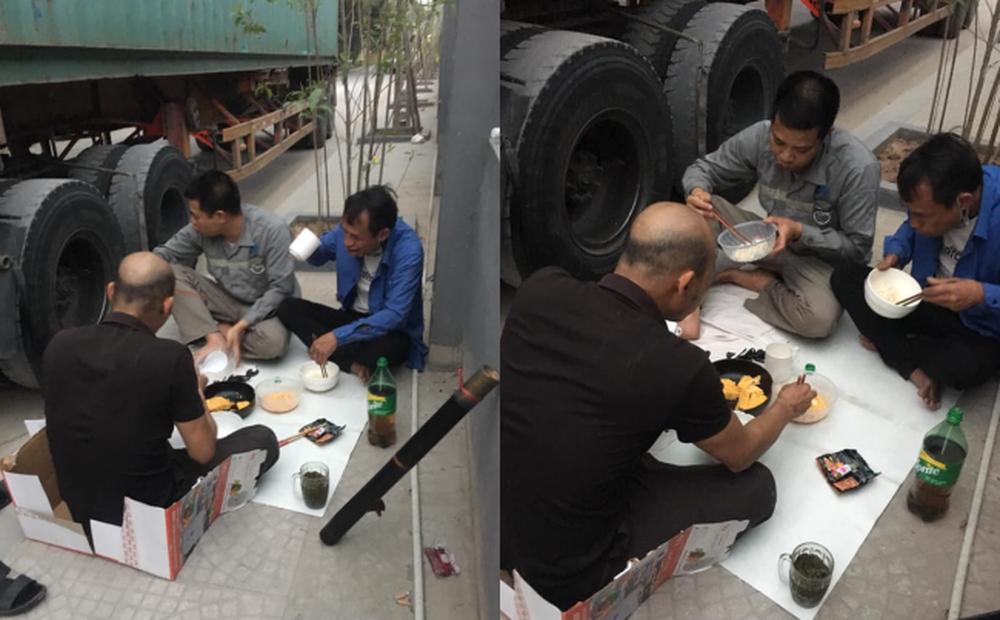 """Bữa cơm bên đường nấu vội của các tài xế container: Gia đình ở nhà nhìn thấy mà """"cay mắt"""""""
