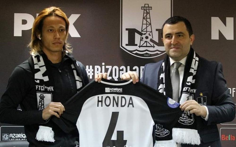 Keisuke Honda trôi dạt đến Azerbaijan chơi bóng