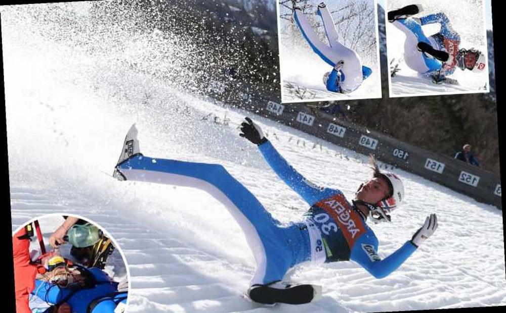 Cú ngã ở vận tốc hơn 100 km/h khiến VĐV trượt tuyết rê vài trăm mét, bất tỉnh và phải dùng máy thở oxy khi nhập viện