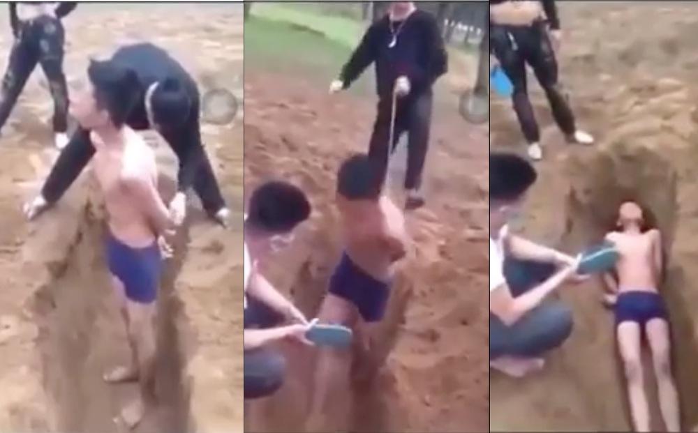 """Vụ nam thiếu niên bị """"chôn sống"""" dưới hố cát: Lời kể bất ngờ từ bà ngoại"""