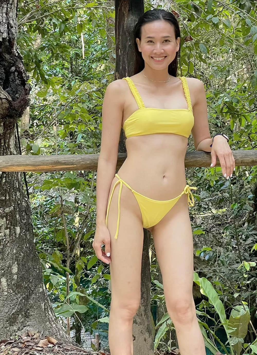 Tình cũ Bằng Kiều diện bikini, khoe vẻ gợi cảm ở tuổi 37 - Ảnh 2.