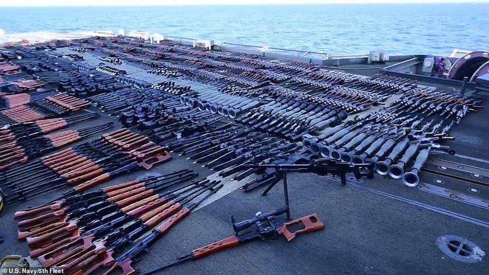 Hải quân Mỹ phát hiện hàng nghìn vũ khí TQ-Nga, mang rải kín một góc tàu chiến - Ảnh 5.