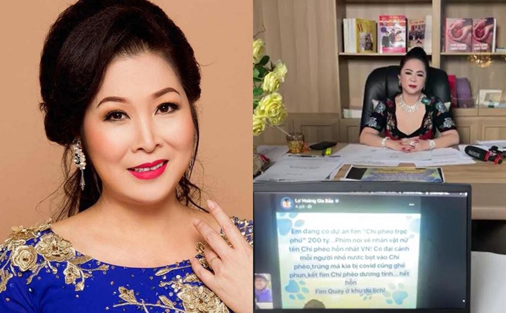 Bà Nguyễn Phương Hằng livestream nói NSND Hồng Vân gay gắt