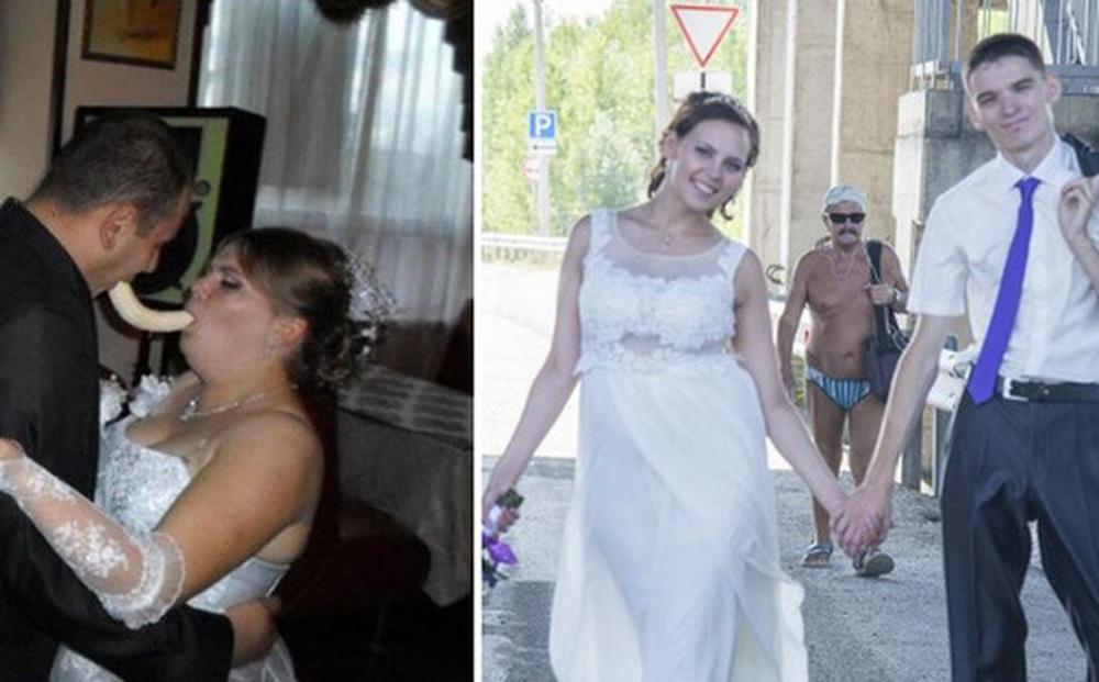Tuyển tập những tấm ảnh cưới không đẹp tí nào nhưng chắc chắn cô dâu chú rể đều... vui tính