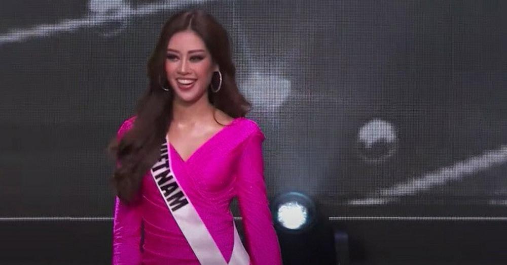 Khánh Vân diện bikini bốc lửa, xoay áo choàng xuất thần trên sân khấu bán kết Hoa hậu Hoàn vũ Thế giới 2020 - Ảnh 10.