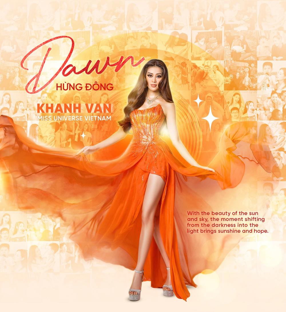 Cận cảnh bộ đồ nóng bỏng, gây ấn tượng mạnh của Khánh Vân trên sân khấu bán kết Hoa hậu Hoàn vũ Thế giới 2020 - Ảnh 1.