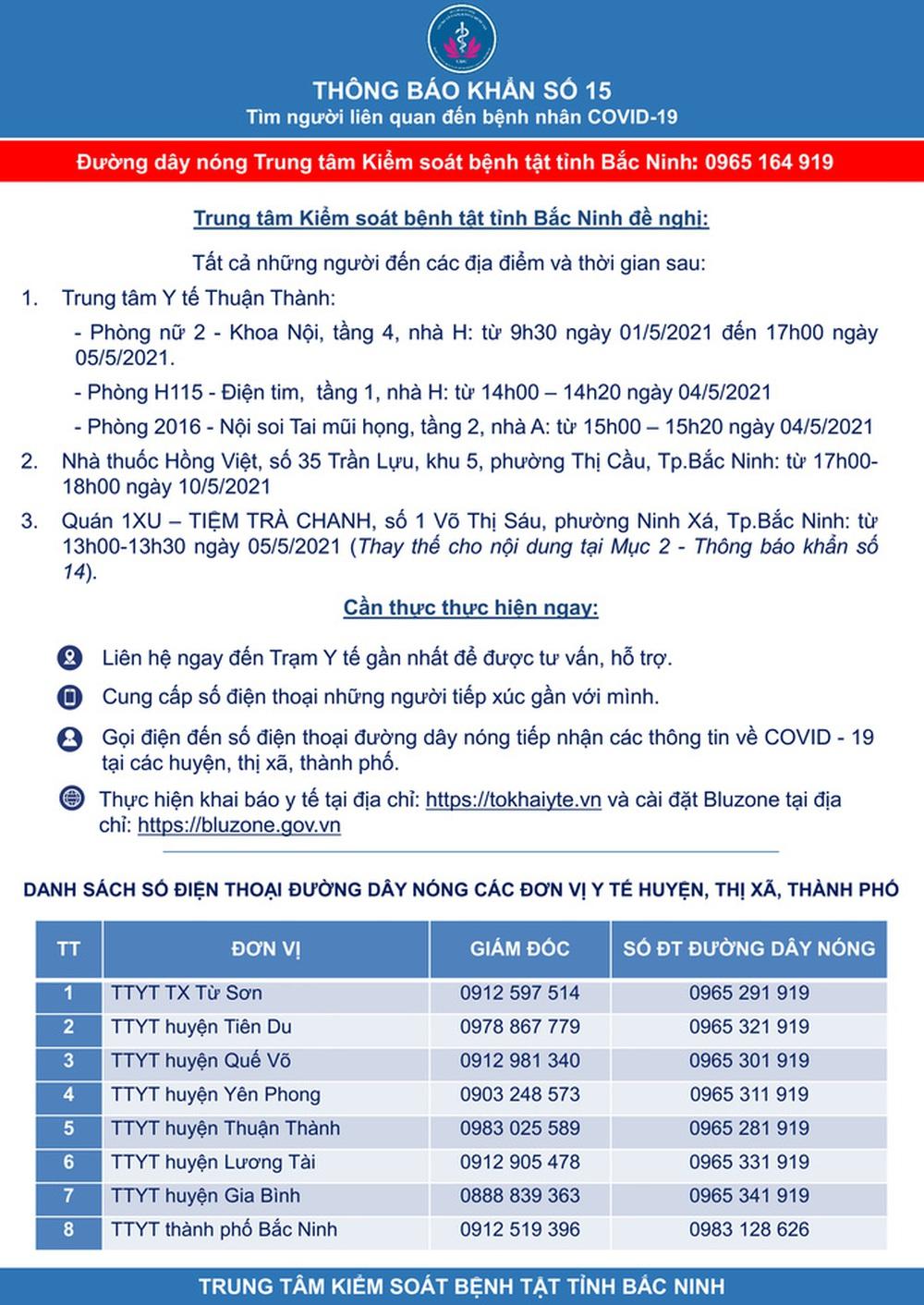 Hỏa tốc giãn cách xã hội toàn huyện Yên Phong của Bắc Ninh từ 14 giờ ngày 15-5 - Ảnh 1.