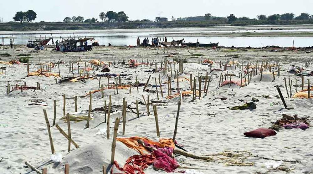 Loạt thi thể dạt vào bờ sông Hằng rúng động Ấn Độ: Quan chức xác nhận có nạn nhân COVID-19 - Ảnh 3.