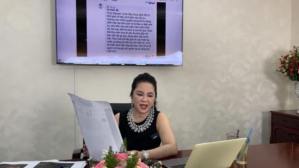 Bị Vy Oanh nghi ngờ chuyện từ thiện 1000 tỷ, bà Phương Hằng: Tôi sẽ lôi hết dĩ vãng của cô này ra - Ảnh 3.