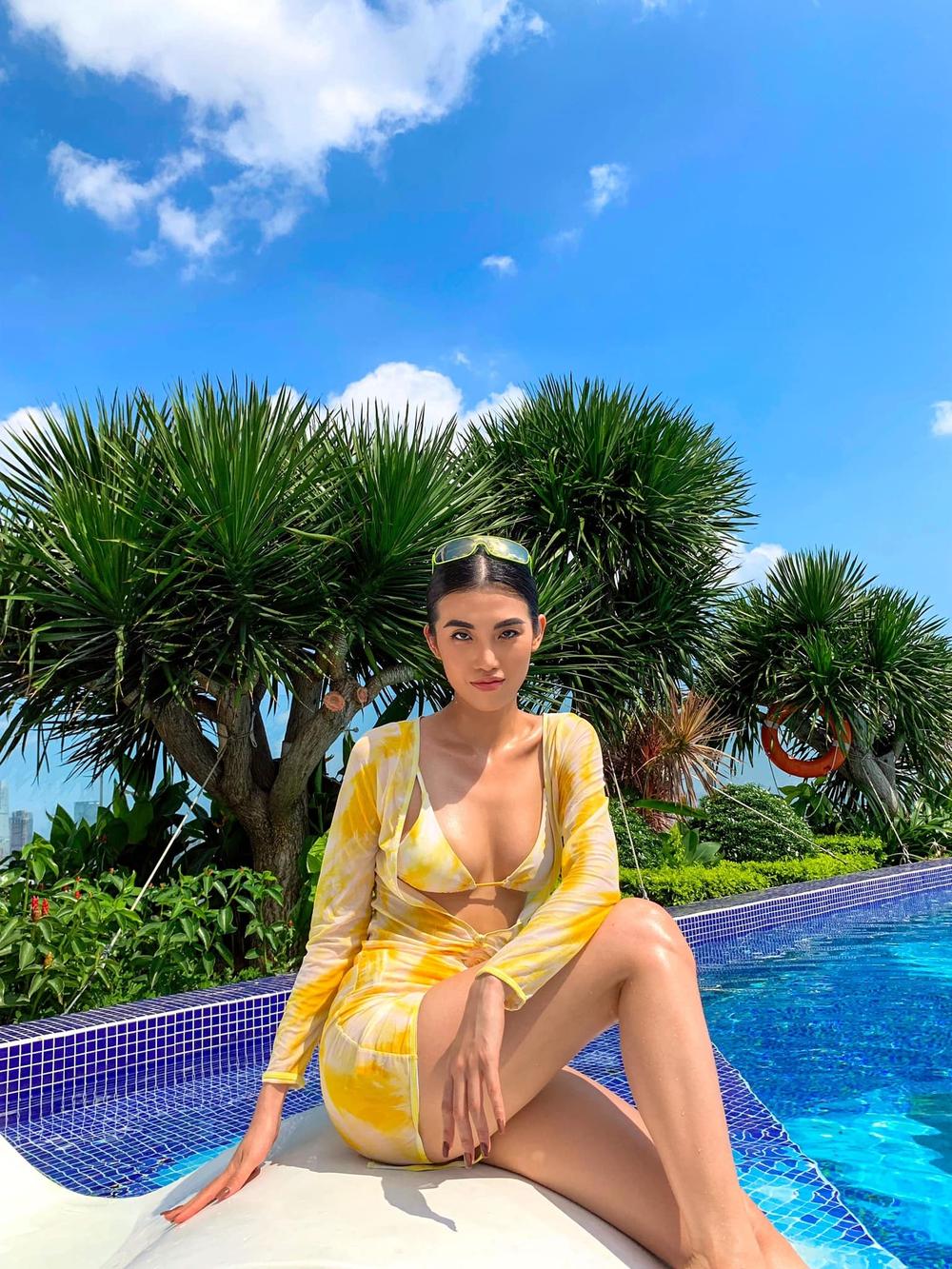 Hậu chia tay tỷ phú U80, người mẫu Việt tung loạt ảnh bikini nóng bỏng - Ảnh 1.