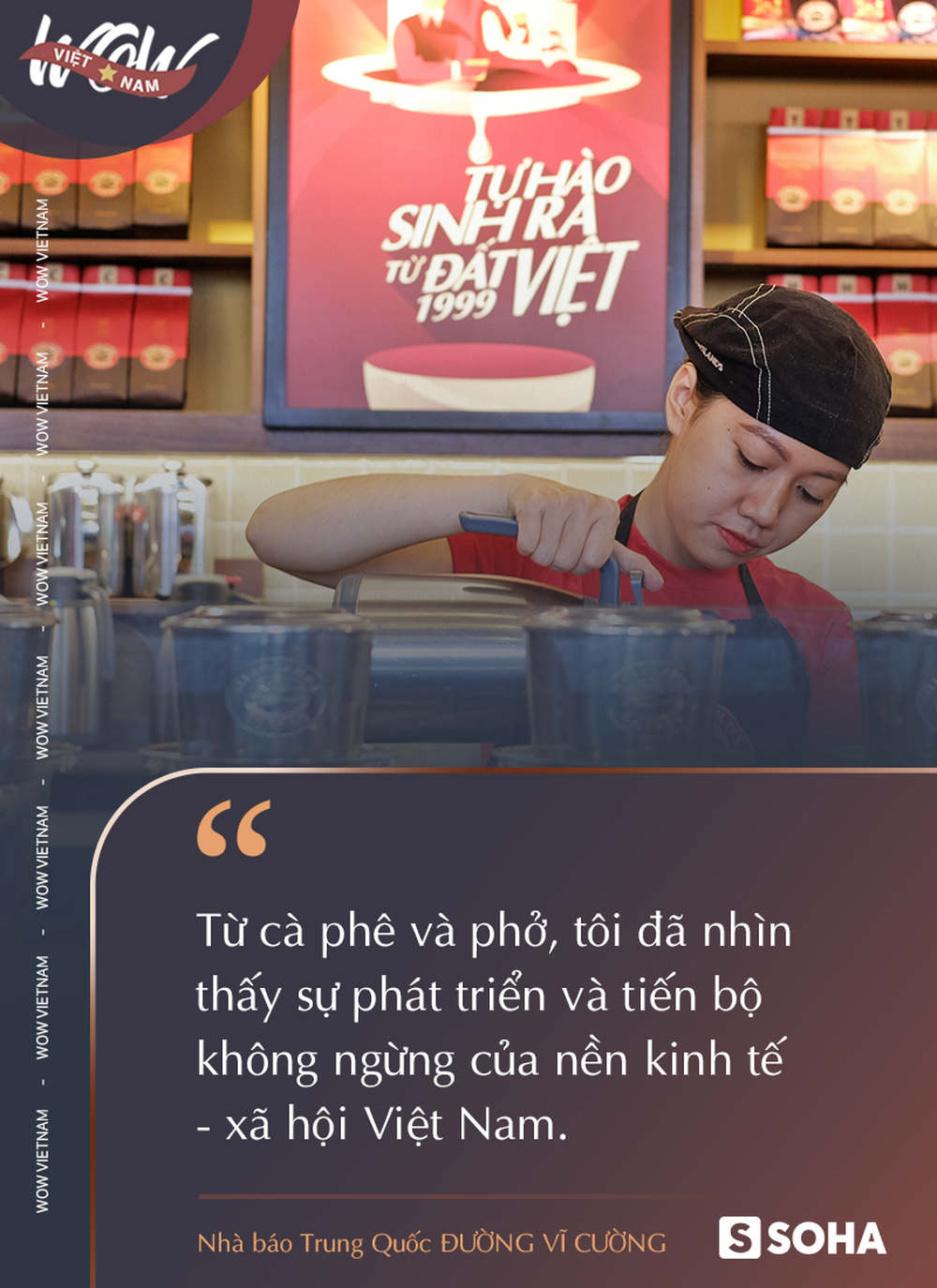 Ghiền món Việt, nhà báo Trung Quốc thốt lên: Cà phê và phở cho tôi thấy sự phát triển của Việt Nam - Ảnh 3.