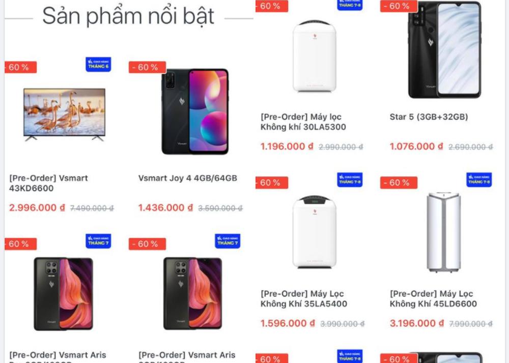 Giá điện thoại Vsmart Aris Pro 3,4 triệu đồng, tivi 43 inch 2,99 triệu đồng - Ảnh 2.