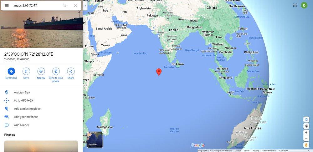 Tên lửa Trường Chinh 5B đã lao xuống biển Ả rập, vỡ thành nhiều mảnh - Ảnh 1.