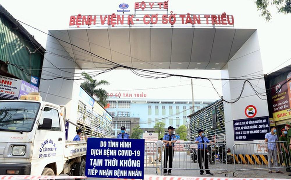 Hà Nội thêm 1 trường hợp dương tính SARS-CoV-2 ở BV K Tân Triều, là học sinh chẩn đoán bị ung thư