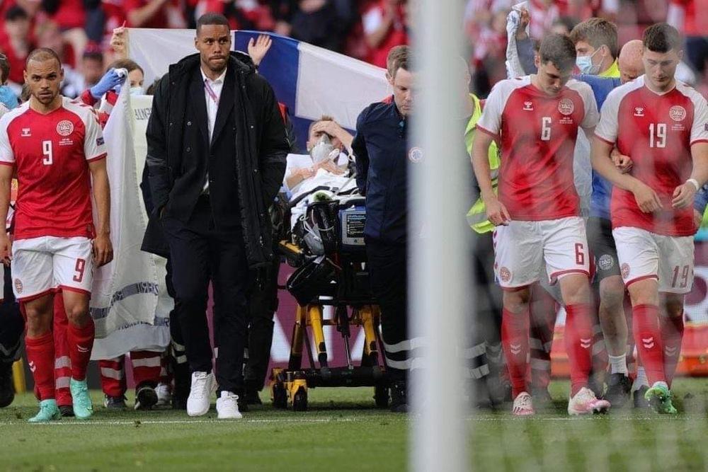 SỐC: Trận Euro phải hoãn vì ngôi sao đột quỵ ngay trên sân, may mắn đã qua cơn nguy kịch - Ảnh 3.