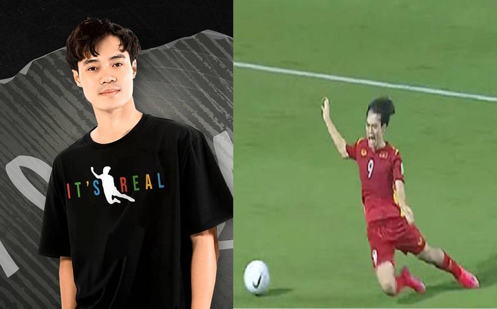 """Mẫu áo lấy cảm hứng từ """"cú ngã 1 phát ăn ngay penalty"""" của Văn Toàn gây """"sốt"""" không tưởng"""