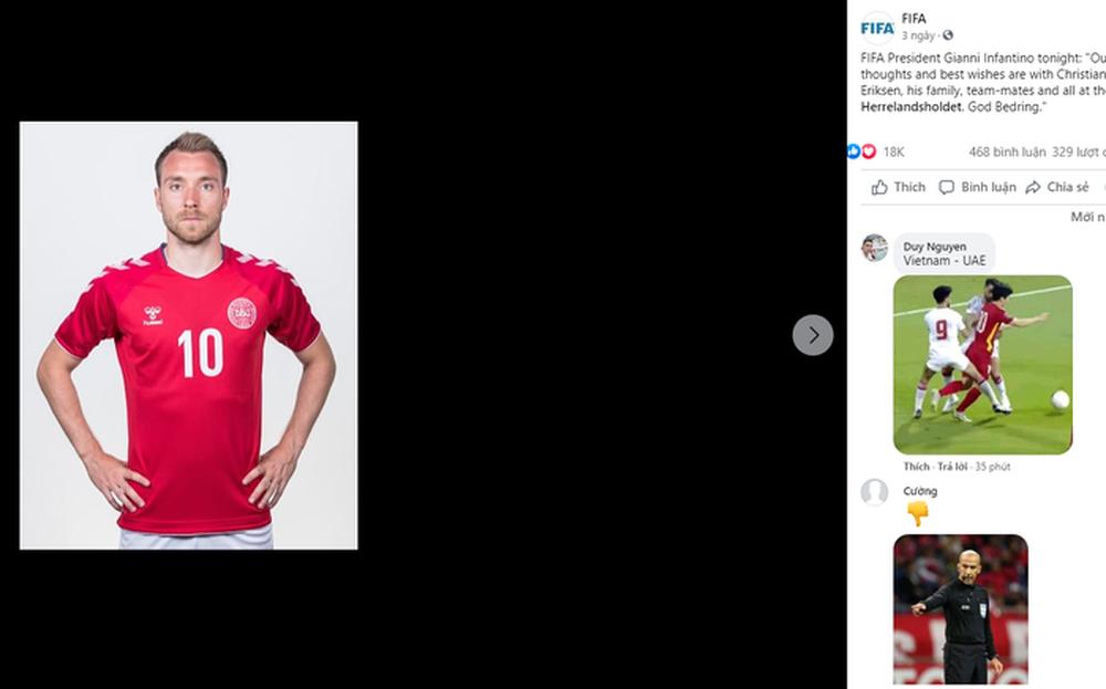 Nóng mắt vì CĐV Việt Nam spam kiện trọng tài ở bài đăng tri ân Eriksen, fan quốc tế thắc mắc: Tại sao lại có bình luận này? - Ảnh 2.