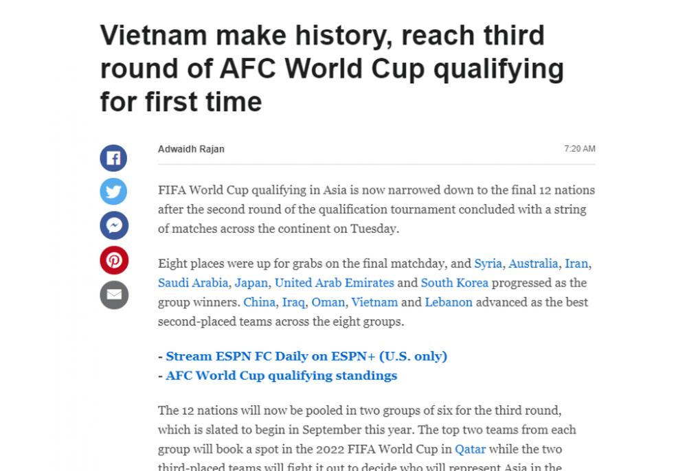 Truyền thông thế giới: Thật khó để tưởng tượng được hành trình của ĐT Việt Nam - Ảnh 1.