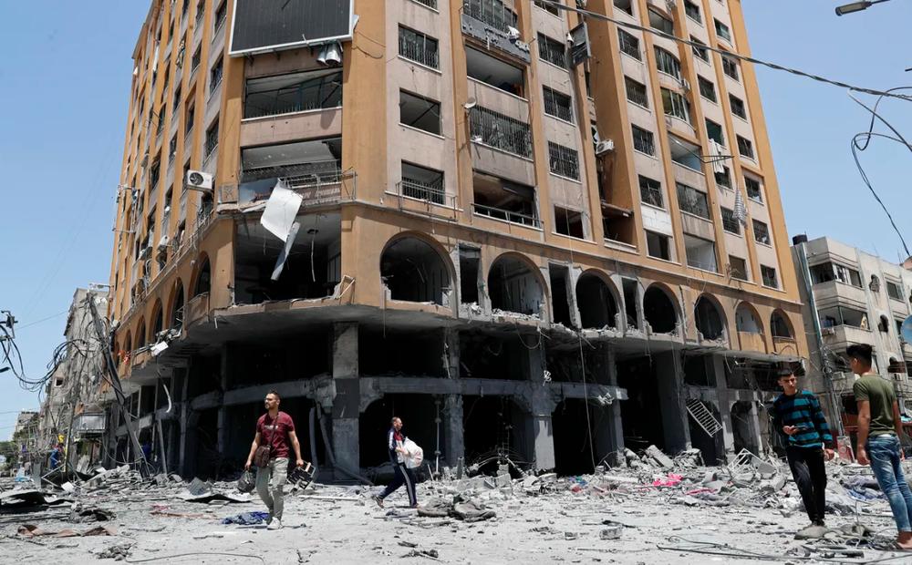 """Ồ ạt không kích dải Gaza, đòn trả đũa khốc liệt của Israel với """"quả bóng"""" của Hamas - Ảnh 2."""