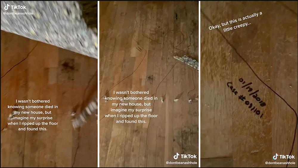 Phát hiện vết bẩn trên sàn trong căn nhà mới mua, nhìn kĩ người phụ nữ liền muốn bỏ chạy mất dép - Ảnh 1.