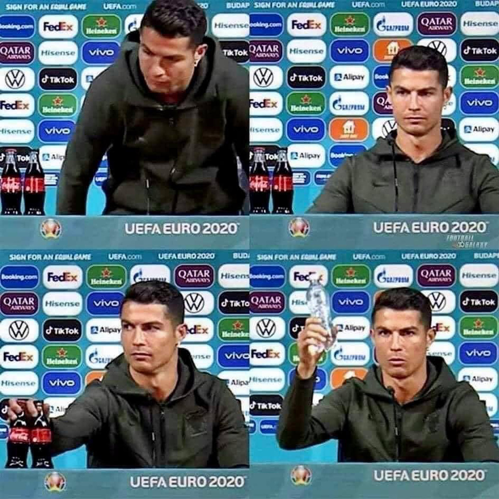 Cú gạt tay trị giá 4 tỷ đô của Ronaldo: Chọn uống nước lọc không phải để bảo vệ sức khỏe mà bảo vệ thương hiệu? - Ảnh 1.