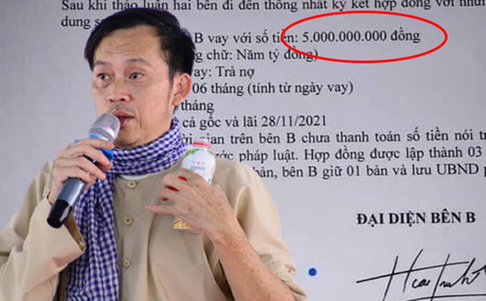 Lộ giấy vay nợ 5 tỷ đồng được cho là của NS Hoài Linh, đại diện phường nói gì?