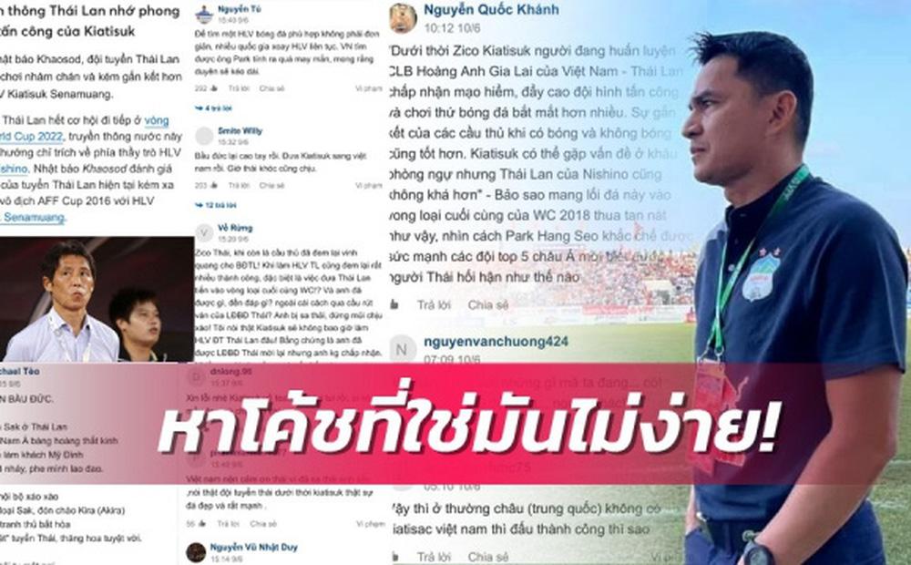 Báo Thái Lan tỏ ra đầy cay đắng khi chứng kiến fan Việt Nam bênh vực HLV Kiatisuk