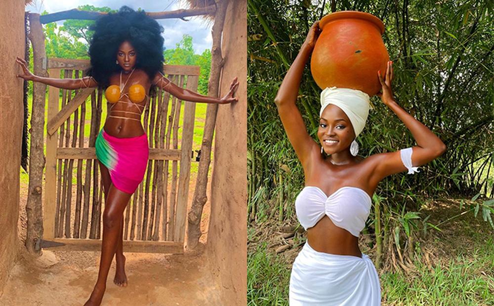 Cô gái Châu Phi đẹp không tì vết, cực nóng bỏng đang gây sốt thật sự là ai?