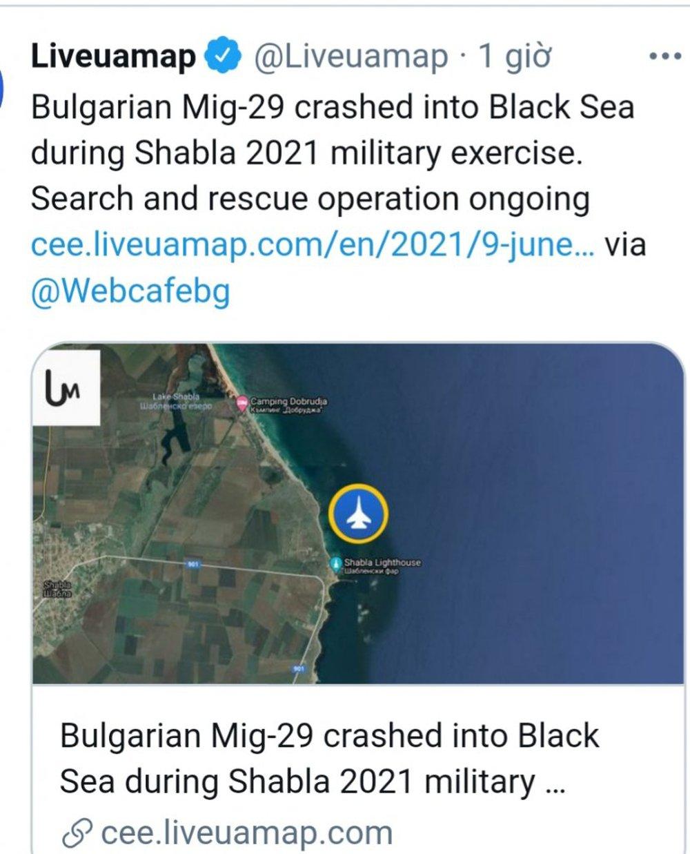 NÓNG: Thông tin cập nhật mới nhất về tiêm kích MiG-29 đột ngột mất tích trong cuộc tập trận Mỹ và Bulgaria - Ảnh 3.