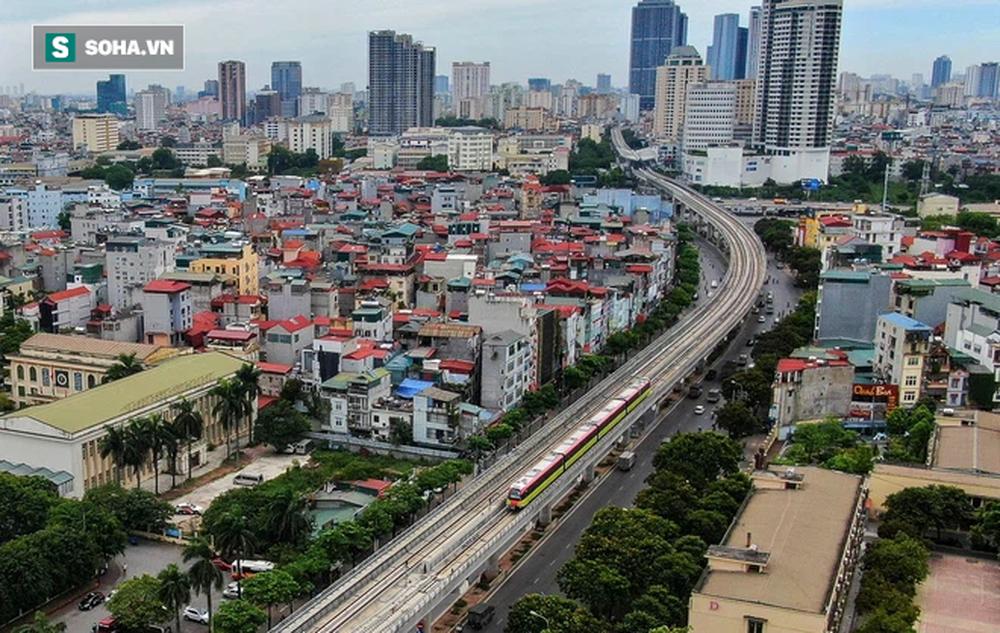 Hình ảnh đoàn tàu tuyến Metro hơn tỷ USD ở Hà Nội do Pháp thiết kế chạy thử nghiệm qua các nhà ga trên cao - Ảnh 11.