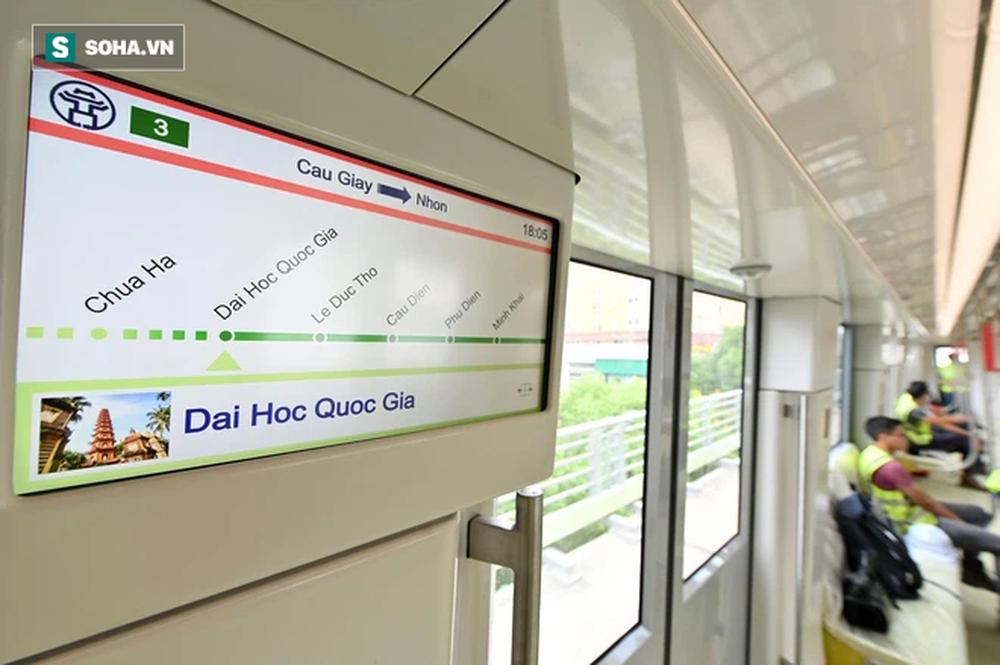 Hình ảnh đoàn tàu tuyến Metro hơn tỷ USD ở Hà Nội do Pháp thiết kế chạy thử nghiệm qua các nhà ga trên cao - Ảnh 16.