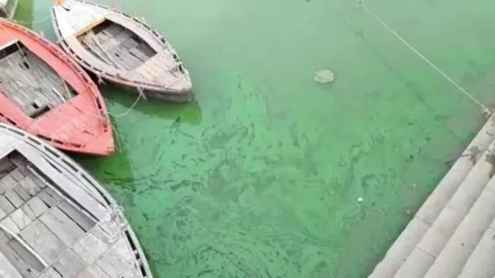 Nước sông Hằng đột nhiên xanh lạ thường, chuyên gia cảnh báo nguy hiểm chết người - Ảnh 1.