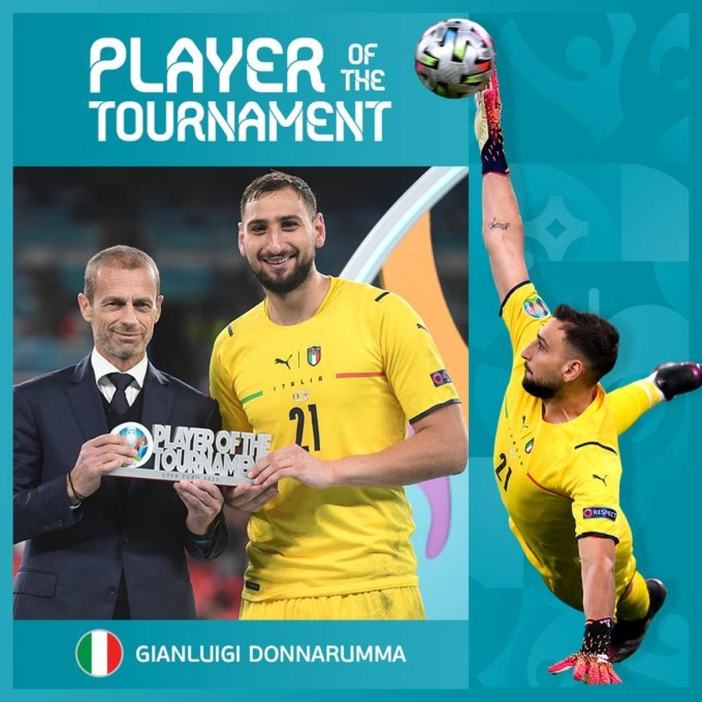 Gianluigi Donnarumma nhận danh hiệu Cầu thủ xuất sắc nhất EURO 2021 - Ảnh 1.