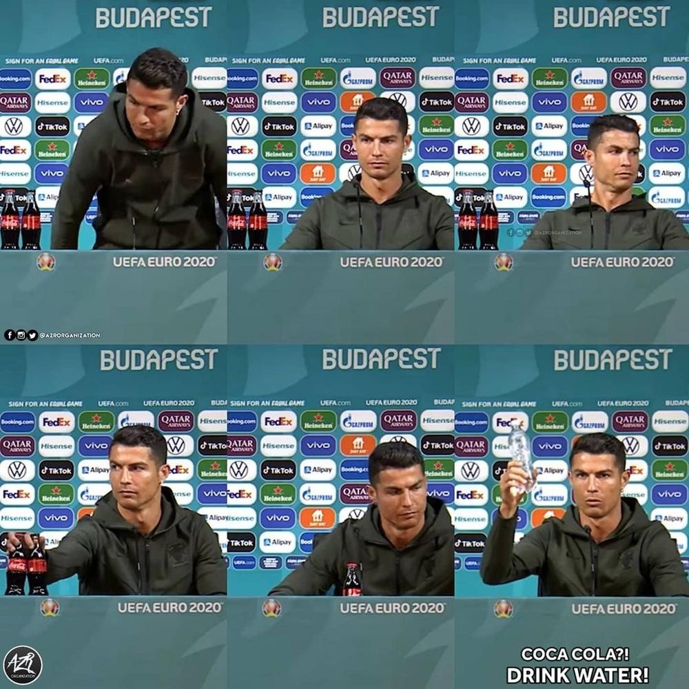 Người hùng Italia thản nhiên uống cả bia lẫn nước ngọt trước máy quay để cà khịa Ronaldo? - Ảnh 2.