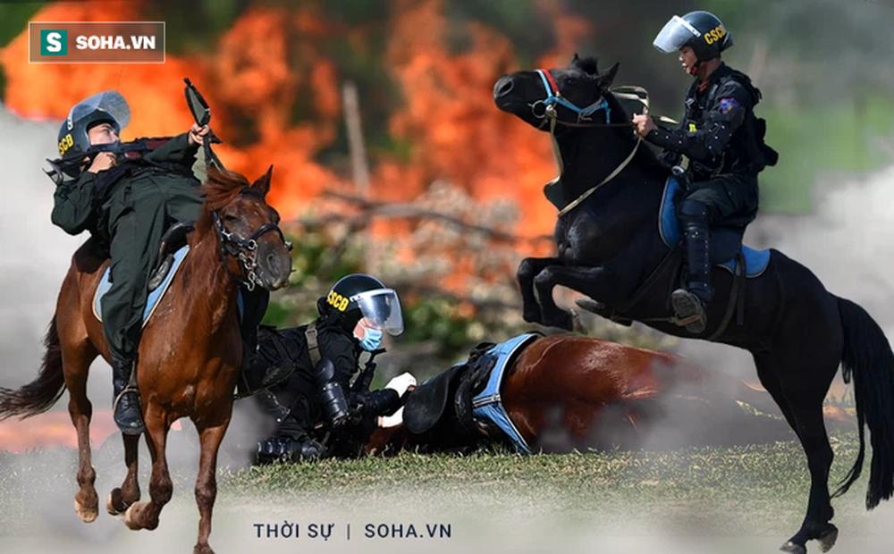 CSCĐ Kỵ binh: Sau hơn một năm huấn luyện, từ ngựa hoang đến những màn vượt rào, bổ nhào, phi nước đại bắn súng đỉnh cao