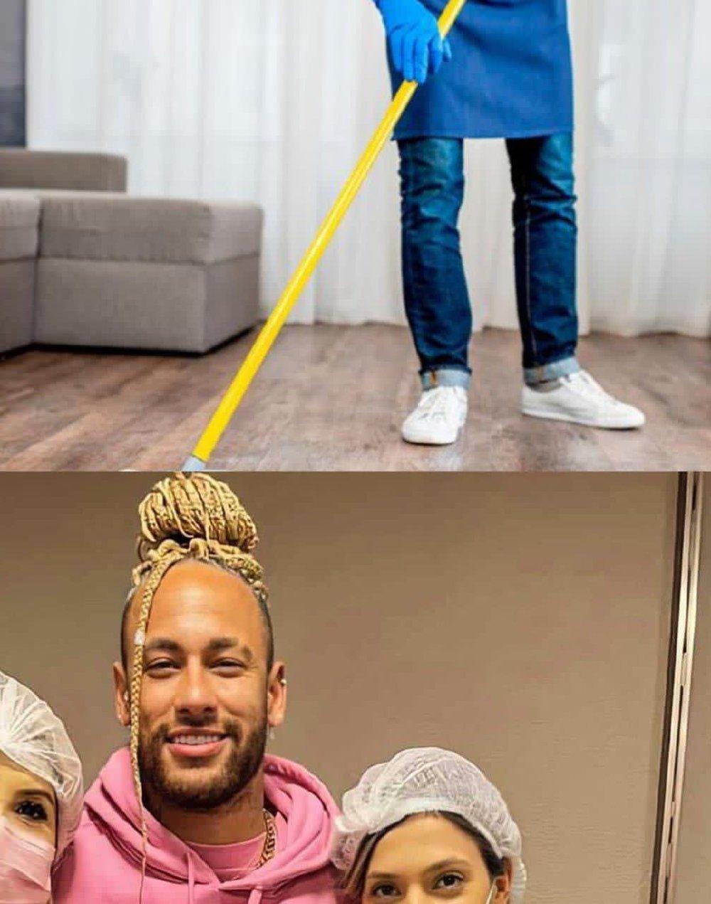 Sau thất bại cay đắng trước Messi và tuyển Argentina, Neymar xuất hiện trở lại với mái tóc... giẻ lau nhà! - Ảnh 4.