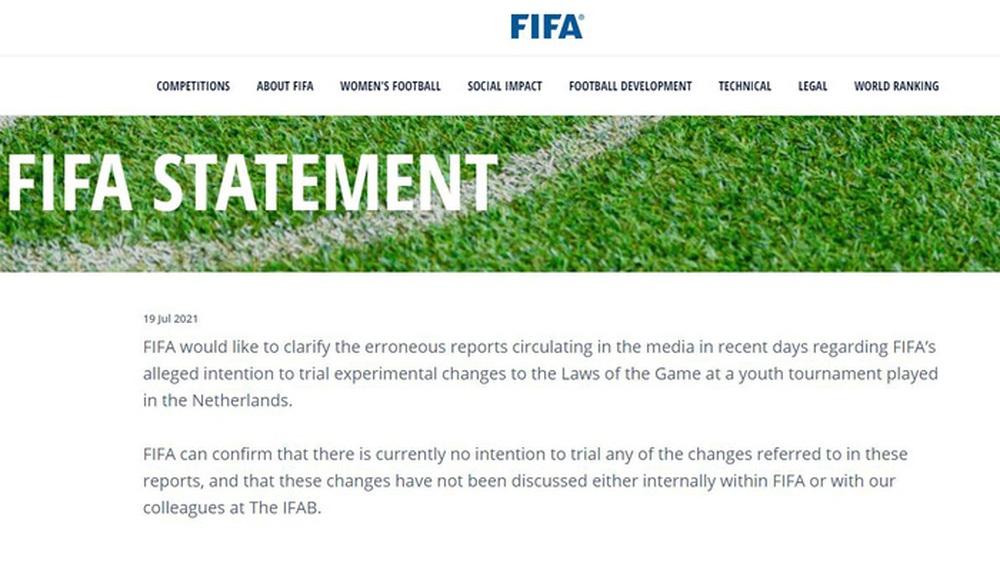FIFA cảnh báo fake news về thông tin đổi luật thi đấu bóng đá - Ảnh 1.