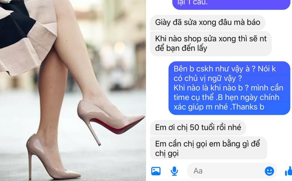 """Chủ shop vô trách nhiệm, khách hỏi han thì bị """"vả mặt"""" với tuyên bố: Chị 50 tuổi rồi nhé!"""