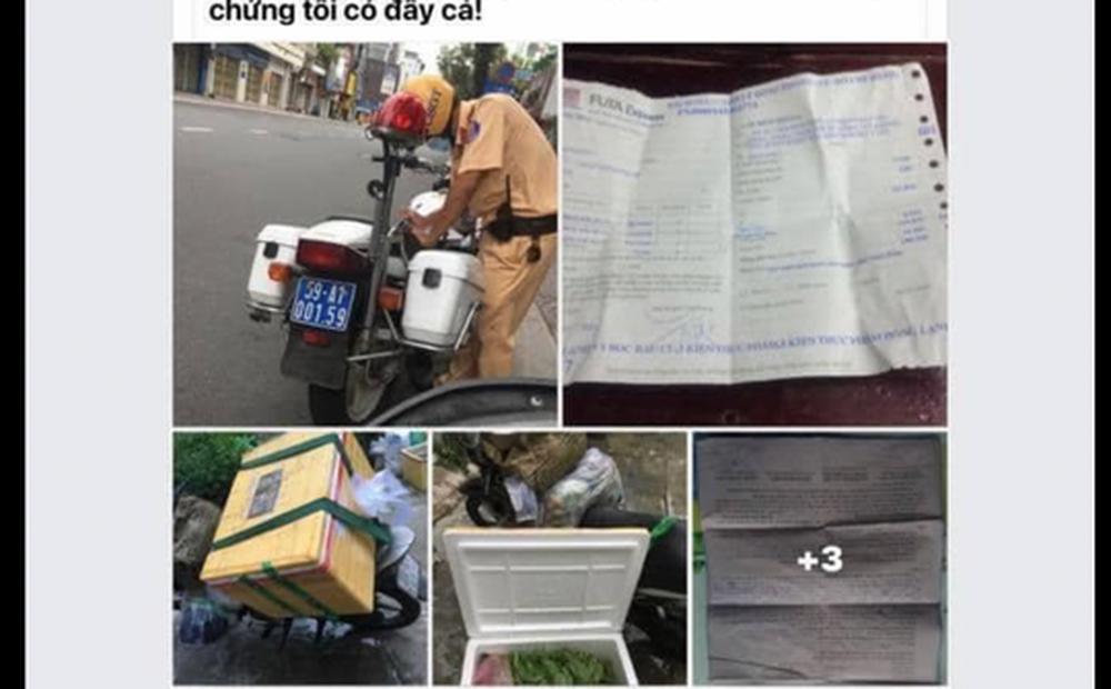 """Đội CSGT Bàn Cờ nói gì về clip """"đến bến xe nhận thực phẩm bị CSGT xử phạt"""" gây bão mạng xã hội?"""