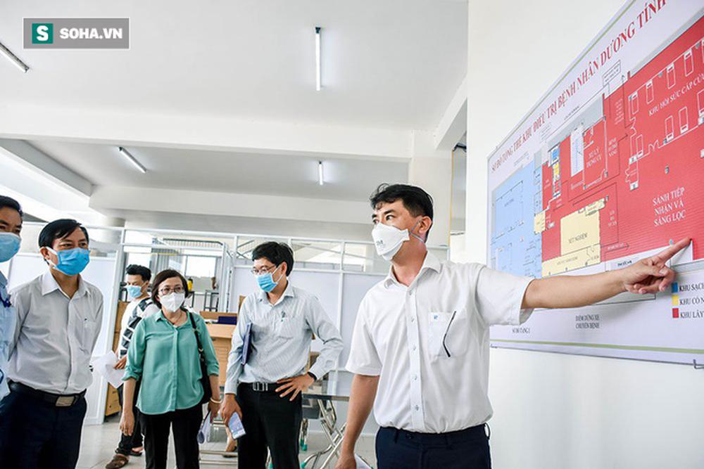 Cận cảnh Bệnh viện dã chiến Đà Nẵng hoàn thành sau 3 ngày xây dựng vừa đưa vào hoạt động - Ảnh 13.